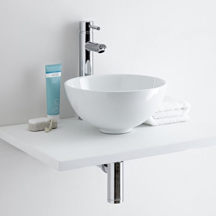 Milano Irwell Countertop Basin with High Rise Basin Tap