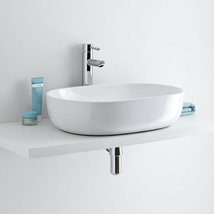 Milano Overton 590mm High Rise Tap with Countertop Basin