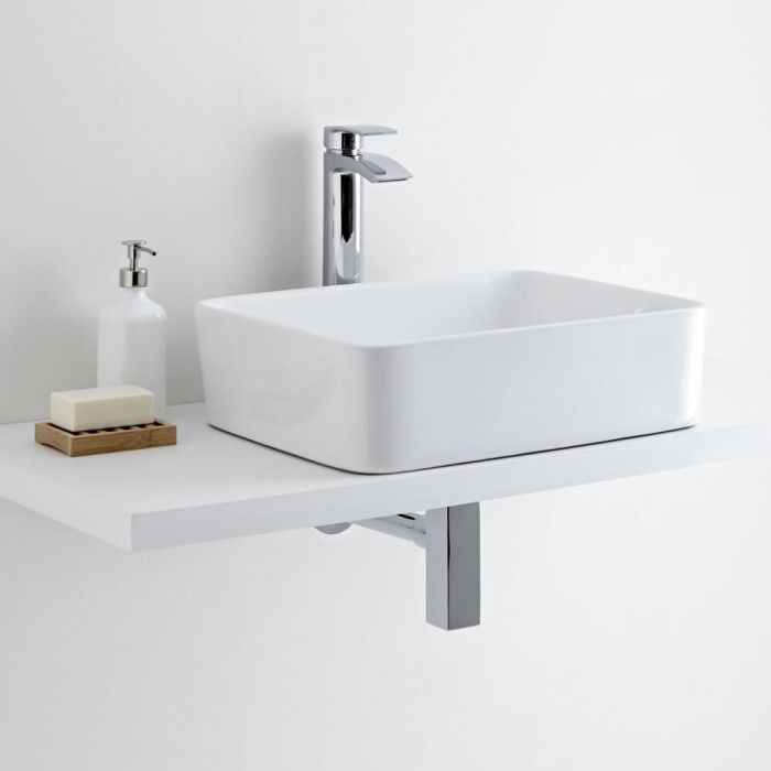 Milano Rivington Rectangular Basin with High Rise Basin Tap
