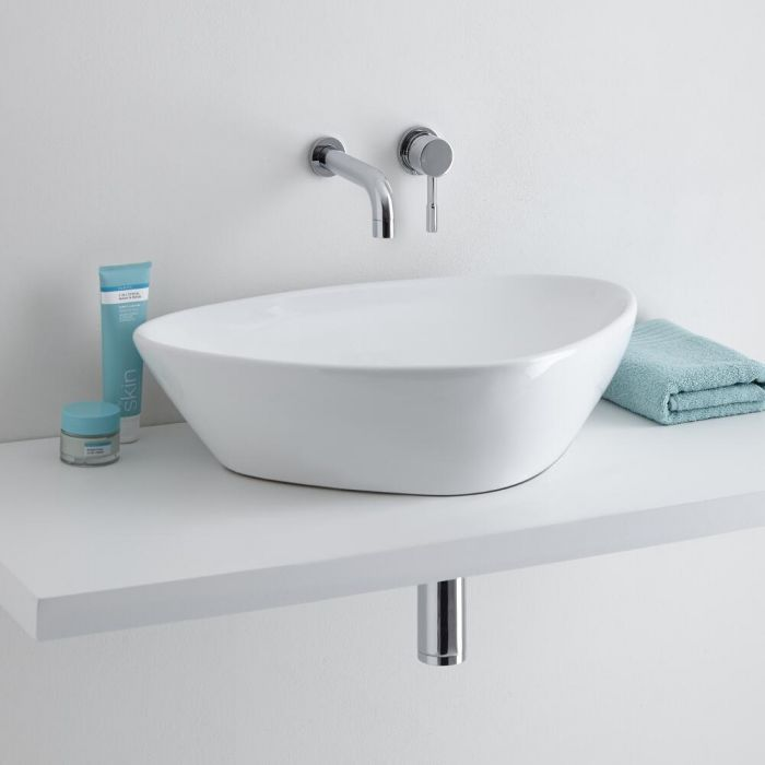 Milano Select Rounded Countertop with Mirage Wall Mounted Basin Tap