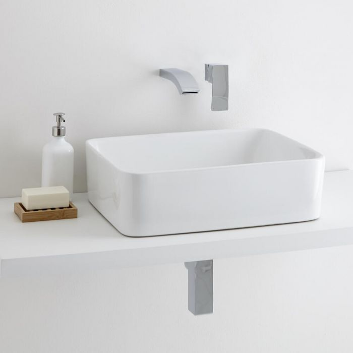 Milano Rivington Countertop Basin with Razor Wall Mounted Tap