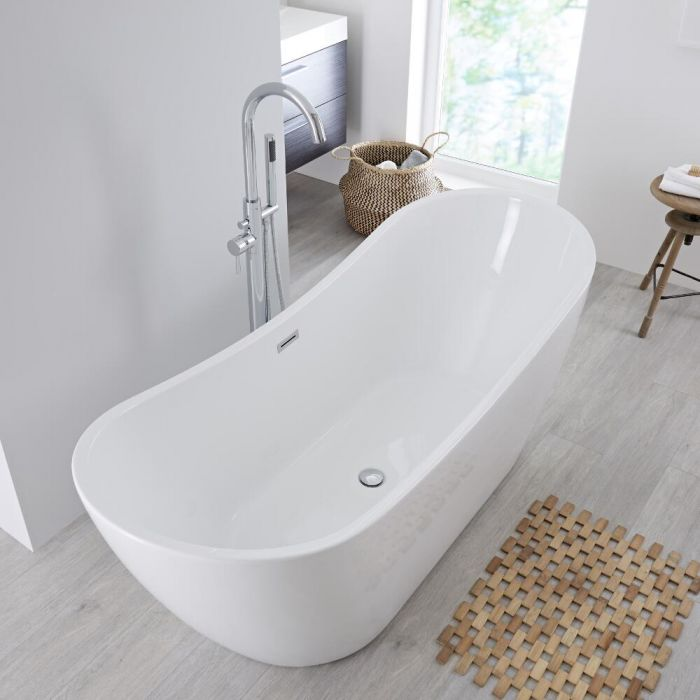 Milano Overton - 1830 x 710mm Double Ended Freestanding Bath