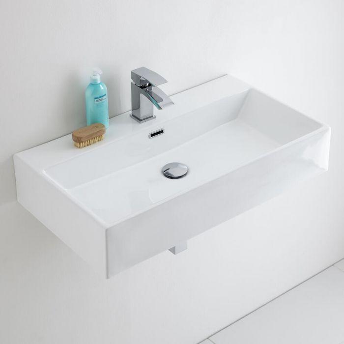 Milano Elswick - Ceramic Wall Hung Basin 750 x 420mm