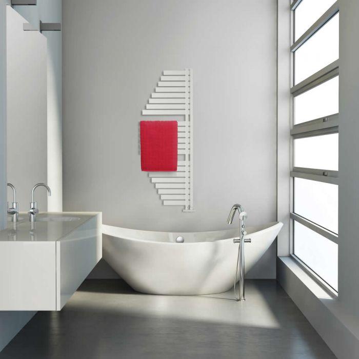 Lazzarini Way - Spinnaker - Mineral White Designer Heated Towel Rail - 1100 x 483mm