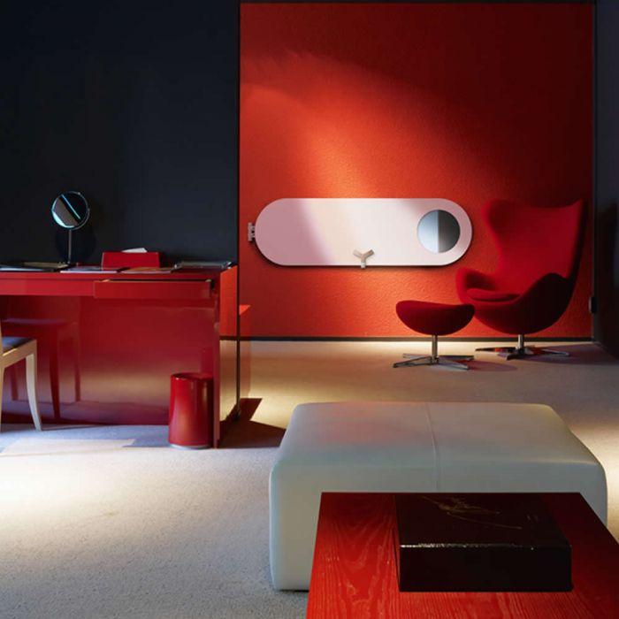 Lazzarini Way - Vulcano - Mineral White Vertical Designer Radiator - 1595 x 490mm