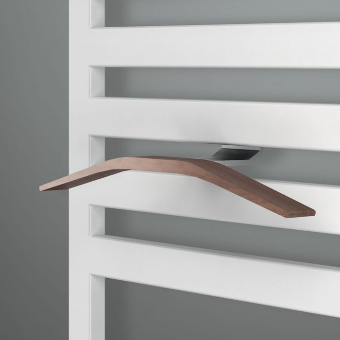 Lazzarini Way - Aluminium & Teak Easy-Install Magnetic Towel Hanger