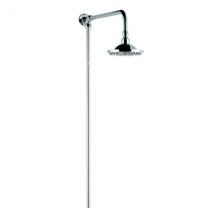 Milano Elizabeth - Traditional Rigid Riser Shower Kit - Chrome