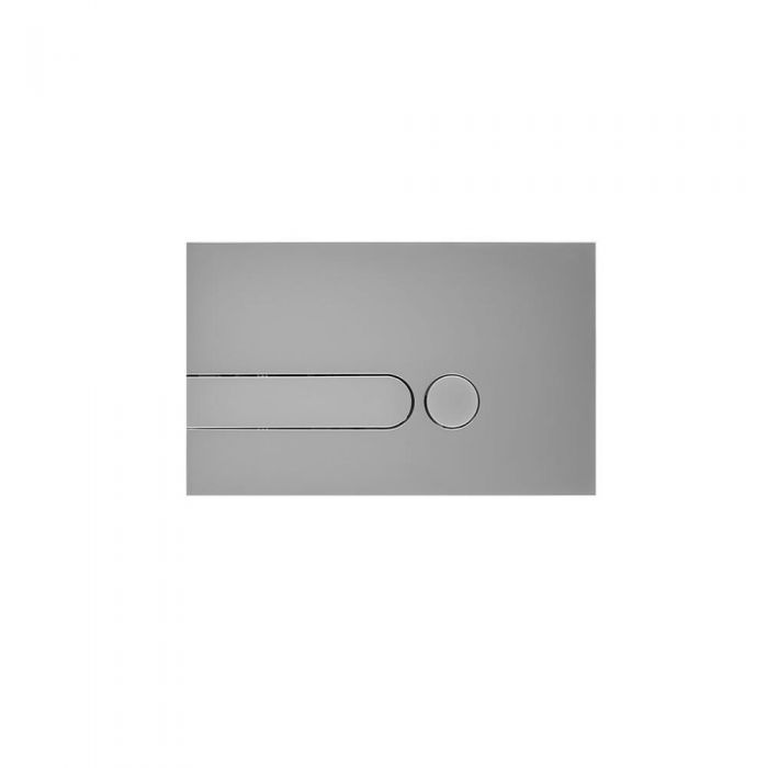 Milano Novus Dot Satin Chrome Flush Plate