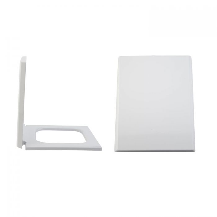 Milano Westby - Soft-Close Quick Release Top Fix Toilet Seat - 405mm x 345mm