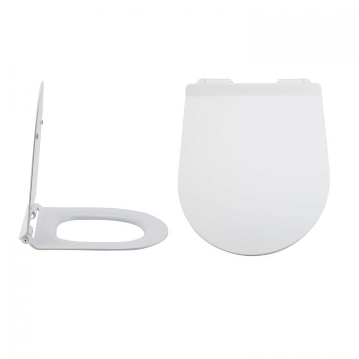 Milano Overton - Soft-Close Quick Release Top Fix Toilet Seat - 440mm x 360mm