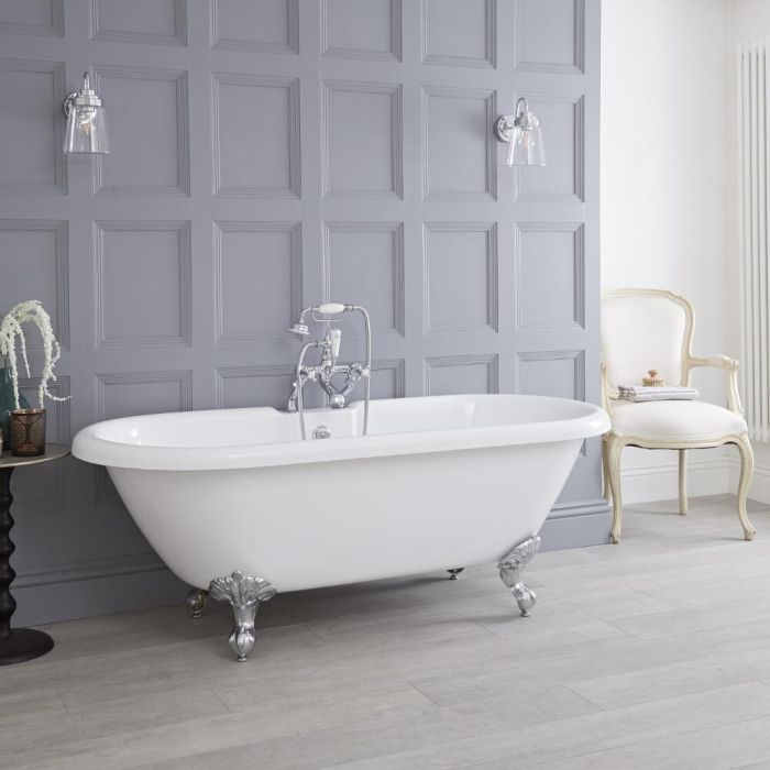 Milano - 1800 x 785mm Roll Top Freestanding Bath with Choice of Feet