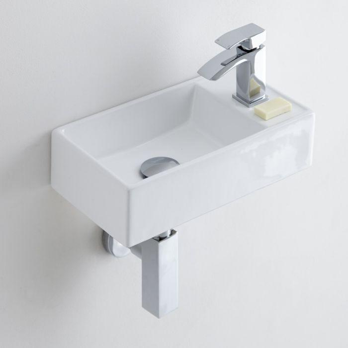 Milano Dalton - Ceramic Wall Hung Basin 400 x 220mm