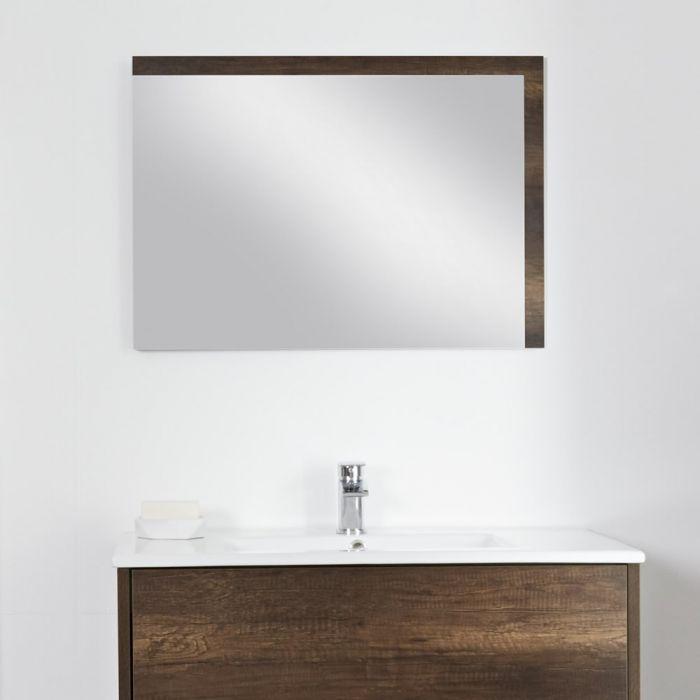 Milano Bexley - Dark Oak Mirror - 700mm x 500mm