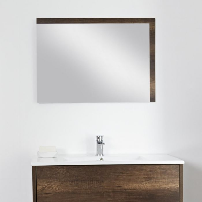 Milano Bexley - Dark Oak Mirror - 1000mm x 750mm