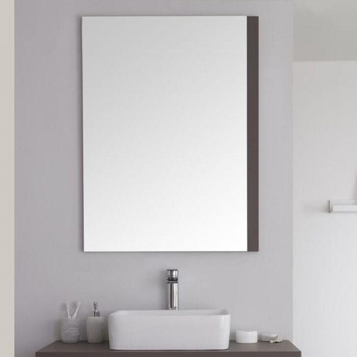 Milano Oxley - Grey Modern Wall Hung Mirror - 1000mm x 750mm