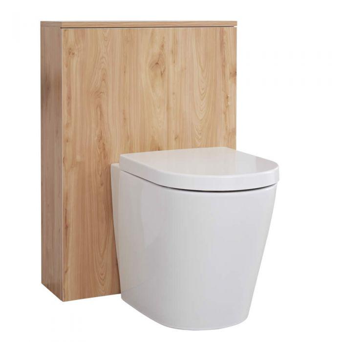 Milano Oxley - Golden Oak Modern WC Unit - 600mm x 850mm