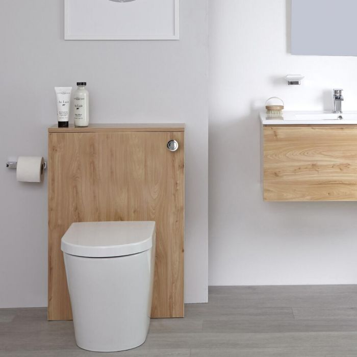 Milano Oxley - Golden Oak 600mm WC Unit