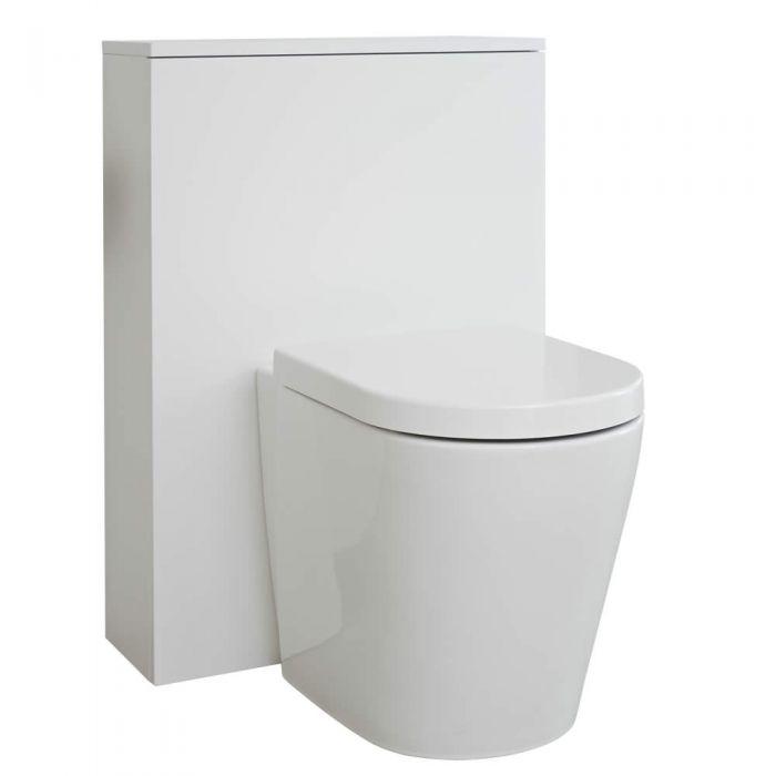 Milano Oxley - Matt White Modern WC Unit - 600mm x 850mm