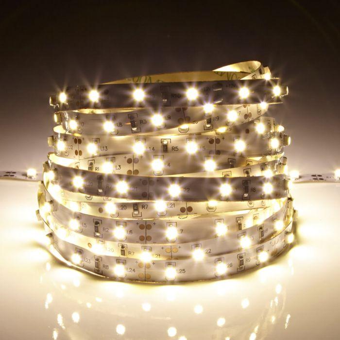 Biard LED IP20 5m 3528 Strip Light - Warm White
