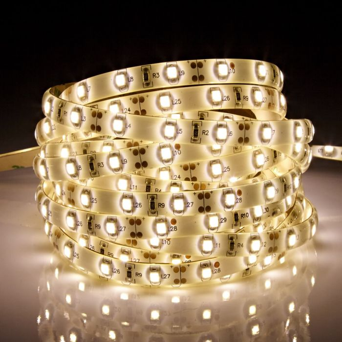 Biard LED IP65 5m 3528 Strip Light - Warm White