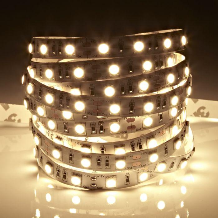 Biard LED IP20 5m 5050 Strip Light - Warm White