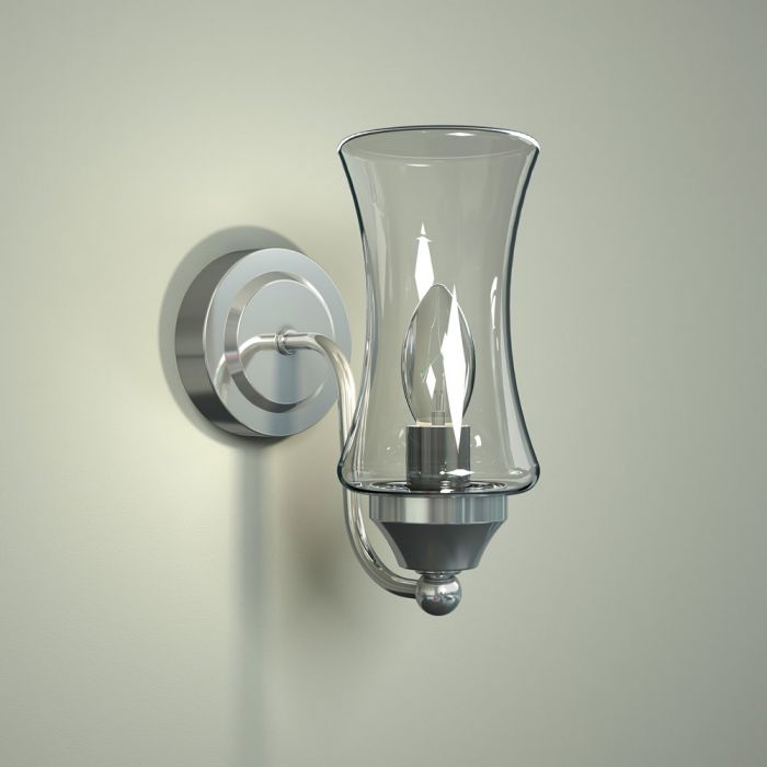 Milano Fischa Curved Bottom Bathroom Wall Light