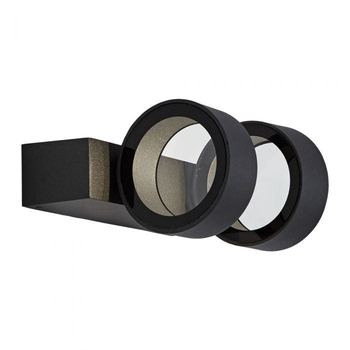 Biard Brno IP65 LED Round Up/Down Outdoor Wall Light - Anthracite