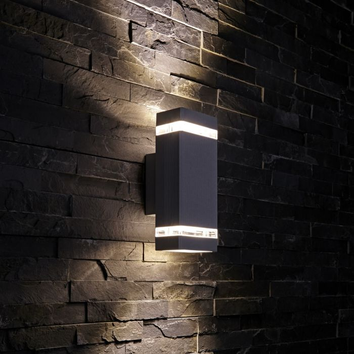 Biard Architect IP54 Square Up/Down Outdoor Wall Light