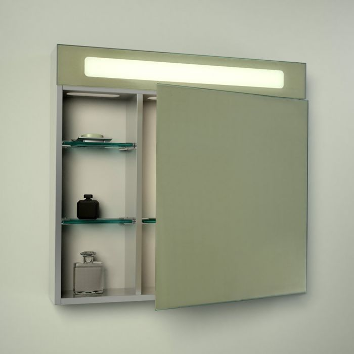 Milano Moselle LED Bathroom Mirrored Cabinet