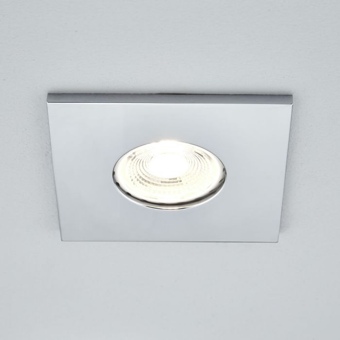 Biard IP65 Fire Rated Bathroom Downlight with Removable Bezel - Square