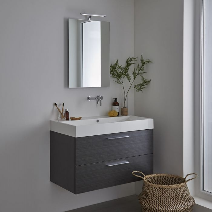 Milano Odiel LED Bathroom Mirror with Sweep Sensor and Demister - 500mm x 755mm