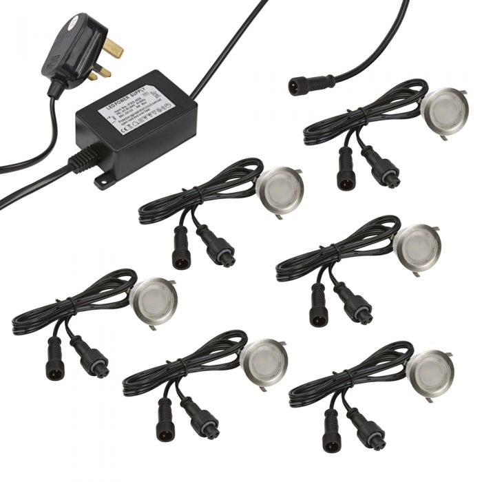 Biard LED IP65 Decking Light - 6 Pack