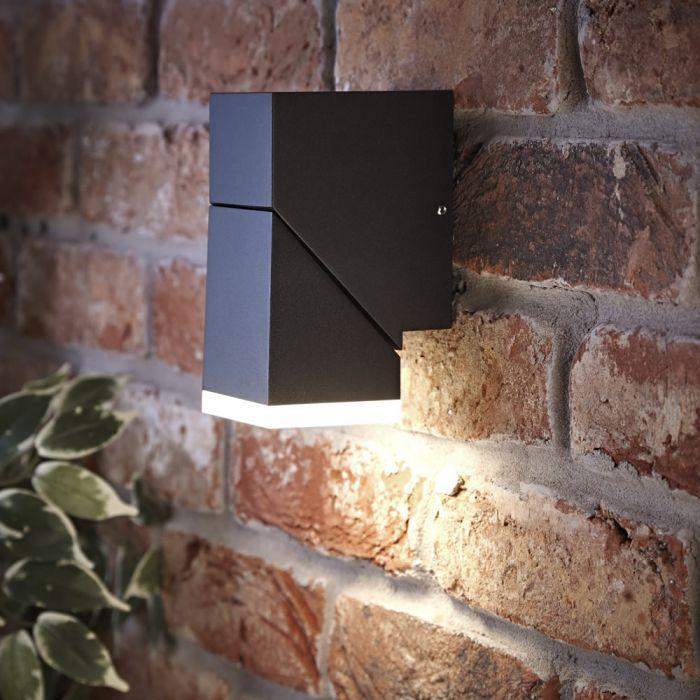 Biard Ziersdorf LED Adjustable Up or Down Light Square - Black