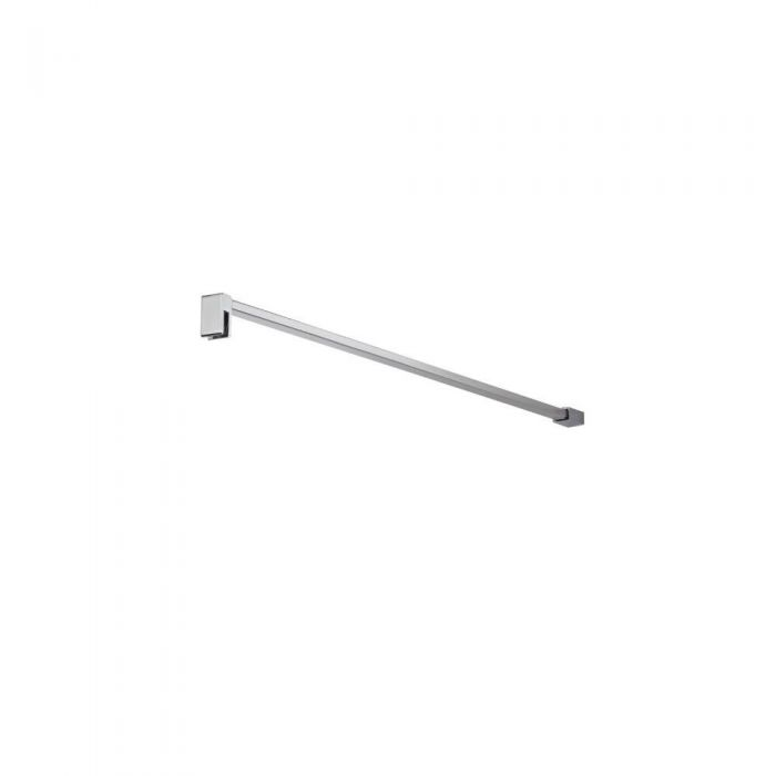 Milano Portland - Modern Square Fixed Wet Room Screen Support Arm - Chrome