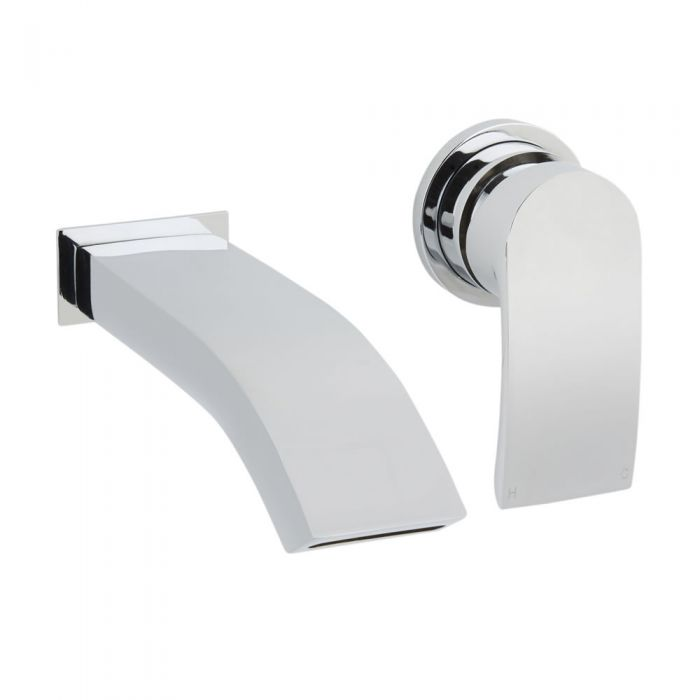 Milano Razor Wall Mounted Basin Mixer