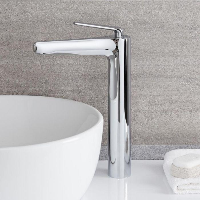 Milano Vora - High Rise Basin Mixer Tap - Chrome