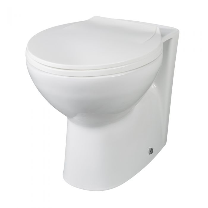 Milano Select - White Modern Back to Wall Toilet with Soft Close Seat