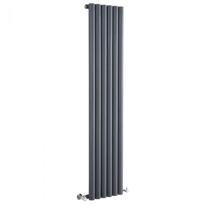 Milano Java - Anthracite Vertical Designer Radiator - 1600mm x 354mm