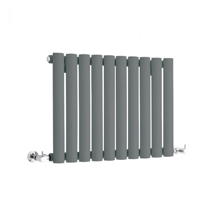 Milano Anthracite Horizontal Designer Radiator 400mm x 595mm (Single Panel)
