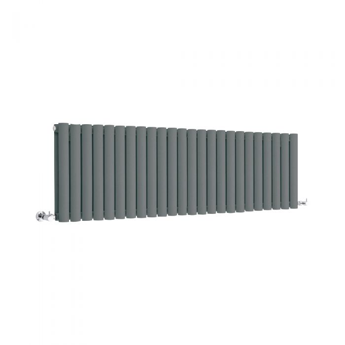 Milano Anthracite Horizontal Designer Radiator 400mm x 1411mm (Double Panel)