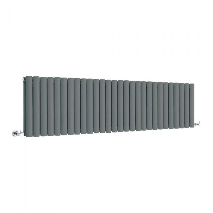 Milano Anthracite Horizontal Designer Radiator 400mm x 1647mm (Double Panel)