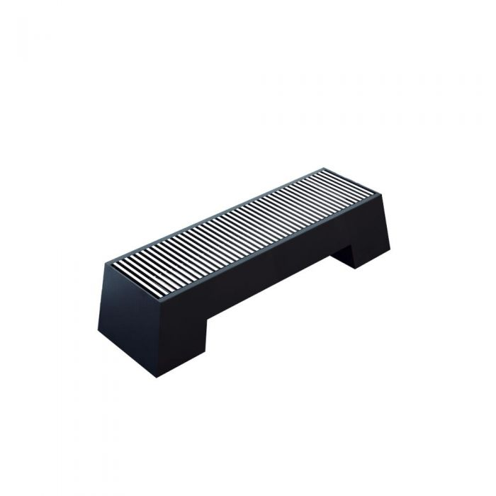 Milano Zita - Anthracite Double Panel Low Level Convector Radiator - 200mm x 1000mm