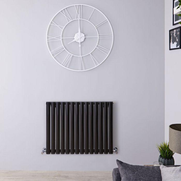 Milano Aruba - Black Horizontal Designer Radiator - 635mm x 834mm