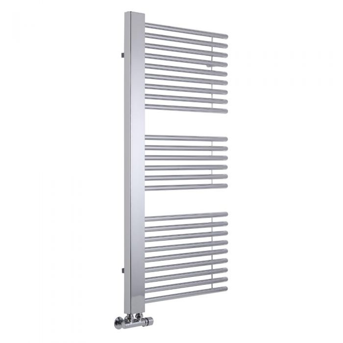 Lazzarini Way - Grado - Chrome Designer Heated Towel Rail - 1190 x 600mm