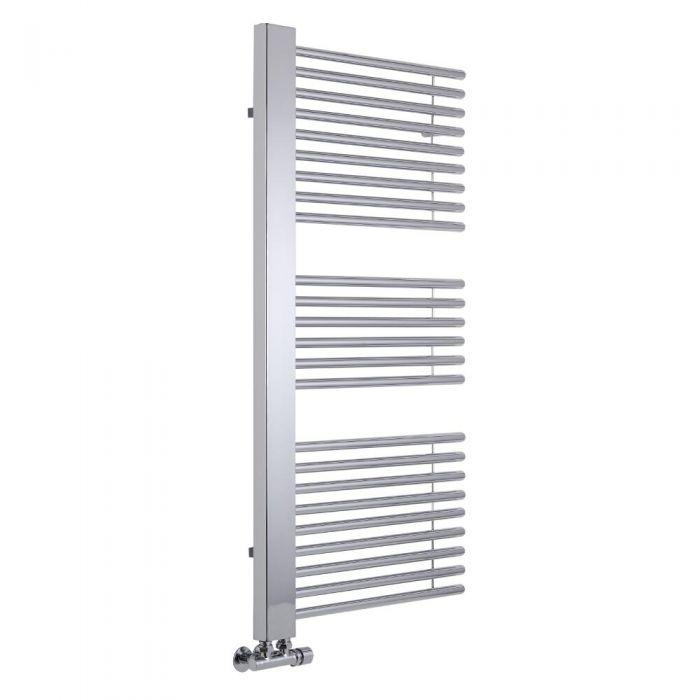 Lazzarini Way - Grando - Chrome Designer Heated Towel Rail - 1190mm x 600mm