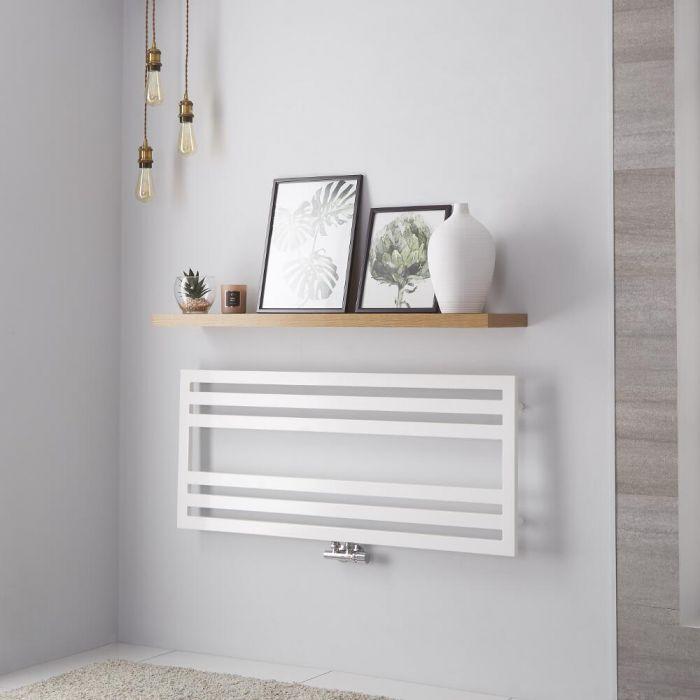 Lazzarini Way Urbino - White Designer Heated Towel Rail - 500mm x 1200mm