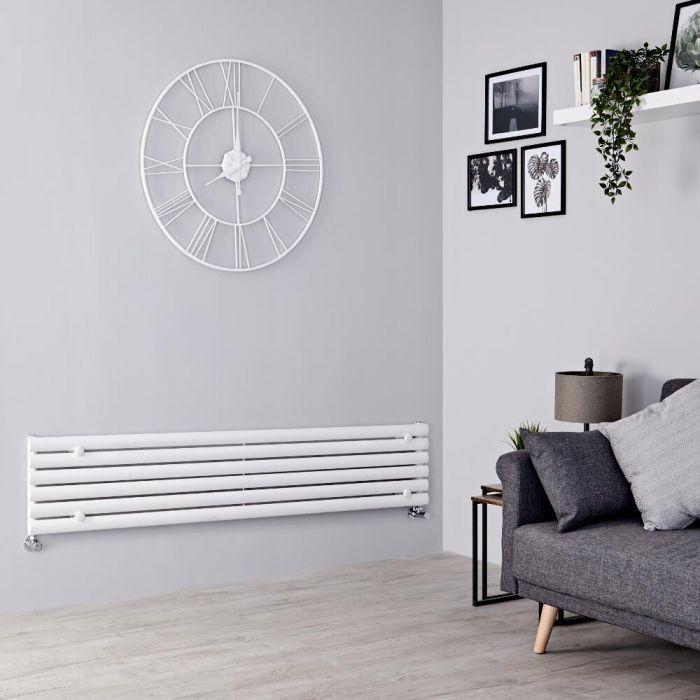 Milano Aruba - White Horizontal Designer Radiator - 354mm x 1600mm