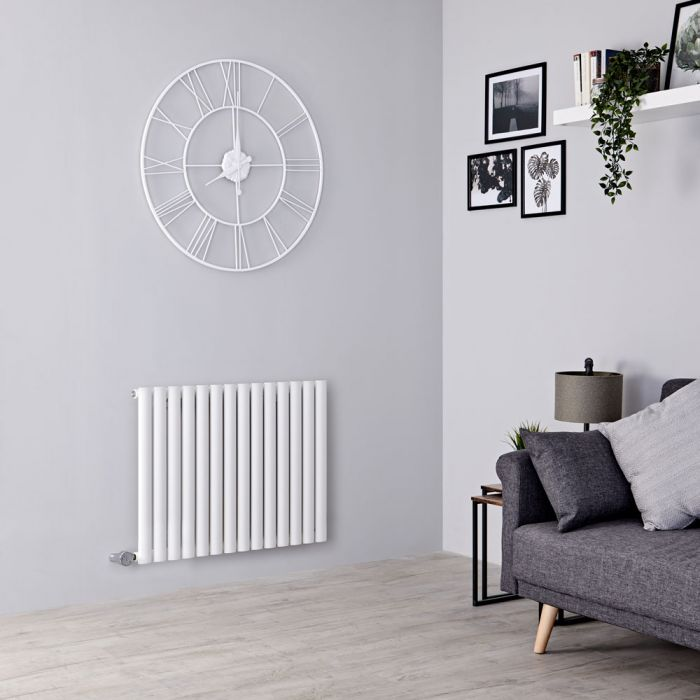 Milano Aruba Electric - White Horizontal Designer Radiator - 635mm x 834mm