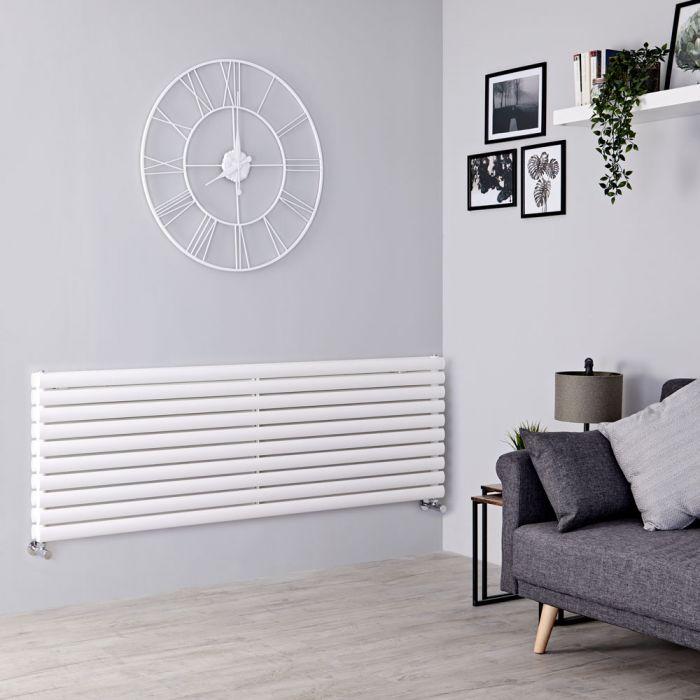 Milano Aruba - White Horizontal Designer Radiator - 590mm x 1600mm (Double Panel)