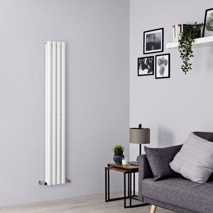 Milano Aruba - White Space-Saving Vertical Designer Radiator - 1600mm x 236mm (Double Panel)